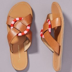 Criss-Cross Slide Sandals (NWT)